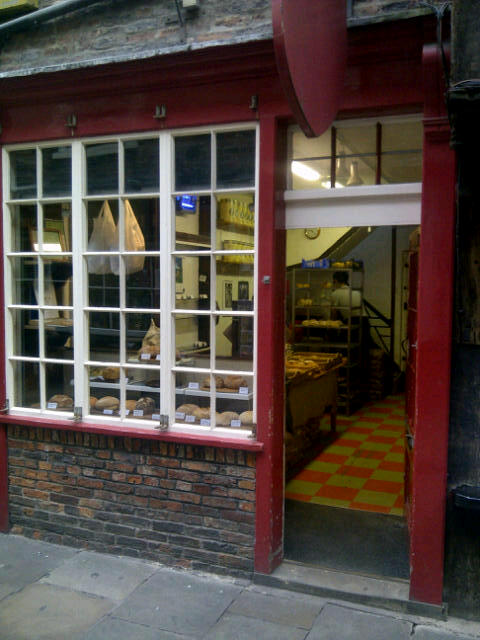 Artisan Bakery in the Shambles in York, England