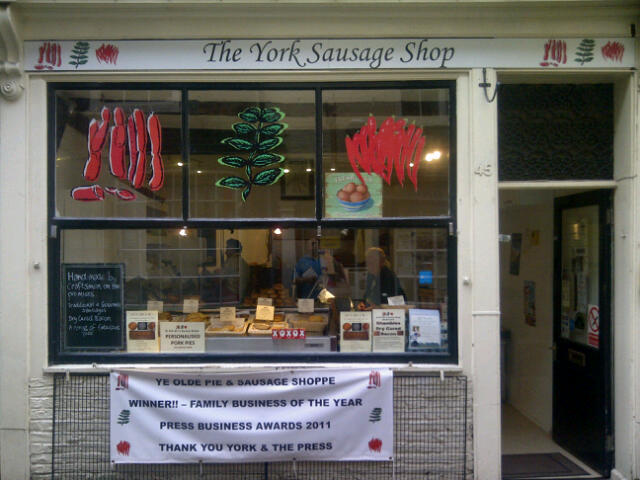 York Sausage Shop in the Shambles in York, England