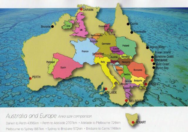 Size Of Australia Vs Eu