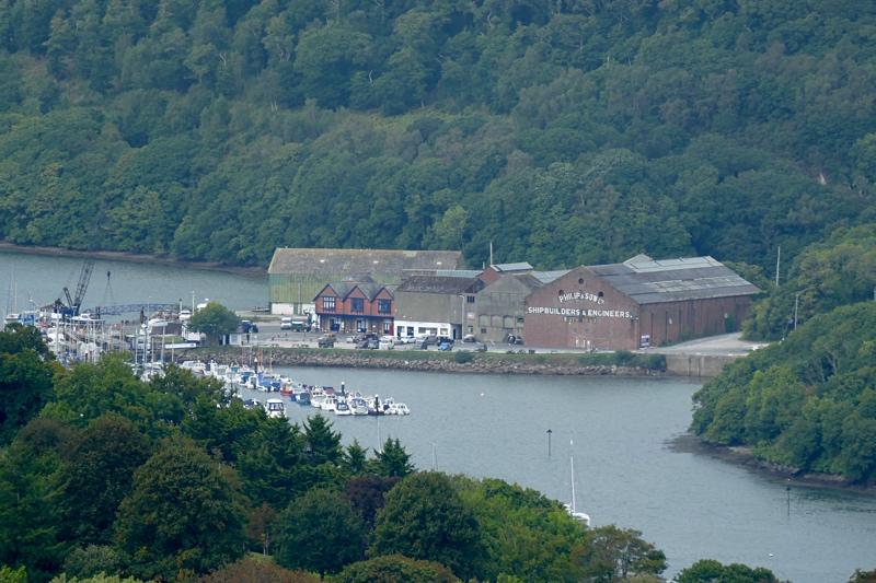 Noss Shipyard on the River Dart.