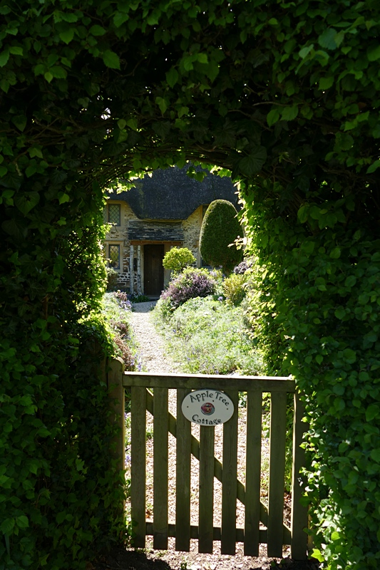 The gate to the cottage garden